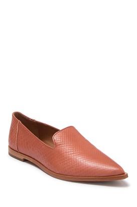 Frye Kenzie Snakeskin Embossed Leather Venetian Loafer