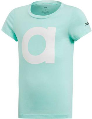 adidas Girls Essentials Branded Tee Mint / White 6