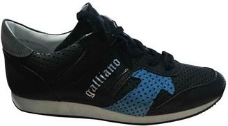 John Galliano Black Leather Trainers