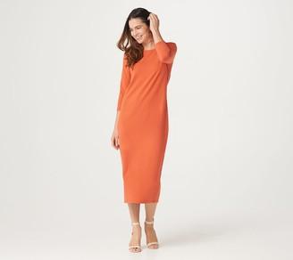 G.I.L.I. Got It Love It G.I.L.I. Petite 3/4 Sleeve Knit Midi Dress