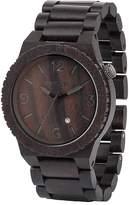 WeWood watch Wood / wooden ALPHA BLACK calendar 9818042 Men's [regular imported goods]