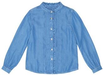 Chloé Kids Ruffle-trimmed shirt