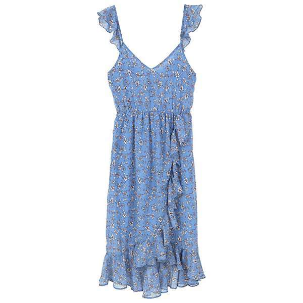 MANGO Floral Ruffled Dress