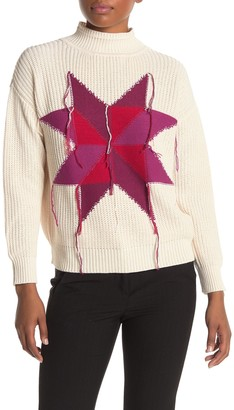 7 Seasons Star Fringe Graphic Sweater