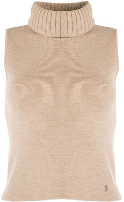 Chanel Pre Owned 2000 Knitted Tutleneck Top