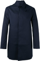 MACKINTOSH concealed button coat - men - Cotton - 50