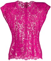 Dolce & Gabbana sheer floral lace blouse