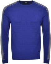 Giorgio Armani Jeans Crew Neck Jumper Blue