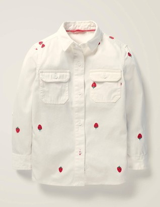 Strawberry Embroidered Shirt