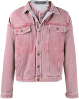 Y / Project - 'Overdye' Denim Jacket with Removable Denim Undershirt - men - Cotton - 44