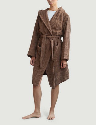 Tekla Hooded organic-cotton dressing gown