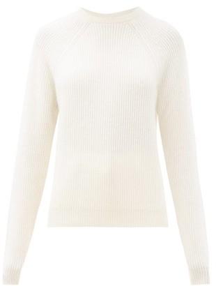 Johnstons of Elgin Odina Ribbed Cashmere Sweater - Ivory