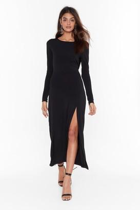 Nasty Gal Womens Cowl You Back Later Slinky Midi Dress - black - 6