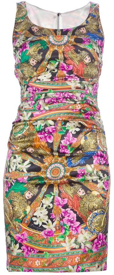 Dolce & Gabbana fitted print dress