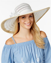 Nine West Packable Floral Sun Hat