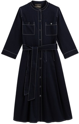 Vanessa Seward X La Redoute Collections Cotton Shirt Dress with 3/4 Length Sleeves