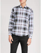The Kooples Check Brushed-cotton Shirt