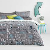 Very Grayson Cityscape Twin Pack Duvet Cover Set - King Size