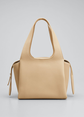 The Row TR1 Bag in Matte Grain Leather