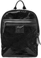 Giuseppe Zanotti Design Laser-Cut Patent Leather Backpack