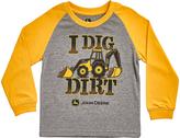 John Deere Yellow 'I Dig Dirt' Raglan Tee - Infant