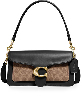 Coach 1941 Tabby Leather & Coated Canvas Signature Shoulder Bag