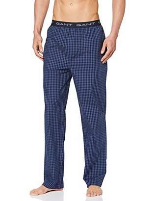 Gant Men's Pajama Pants Gingham Pyjama Bottoms, (Evening Blue 433), L