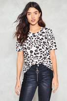 Nasty Gal nastygal Play the Wild Card Leopard Tee