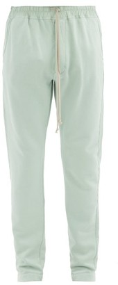 Rick Owens Berlin Cotton-jersey Track Pants - Light Green