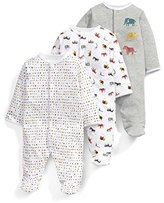 Mamas and Papas Baby 3Pk Animal Aio Footies,12-18 Months