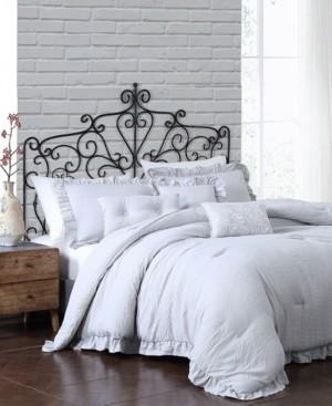Montage Home Davina Enzyme Ruffled 6 Piece Comforter Set, Twin Bedding