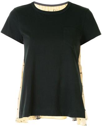 Sacai contrast paisley-print T-Shirt