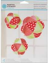 Martha Stewart Patchwork Ornaments Makes 4 Four