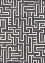 Chandra Lima - Patterned Rectangular Reversible Wool/Cotton Area Rug 4