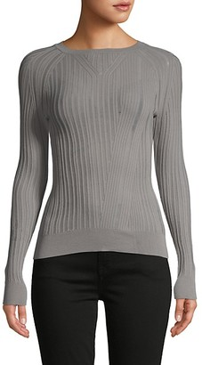 DOLCE CABO Ribbed Raglan-Sleeve Sweater