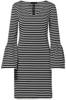 Banana Republic Striped Ponte Bell-Sleeve Shift Dress