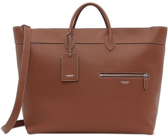 Burberry grainy leather top-handle holdall