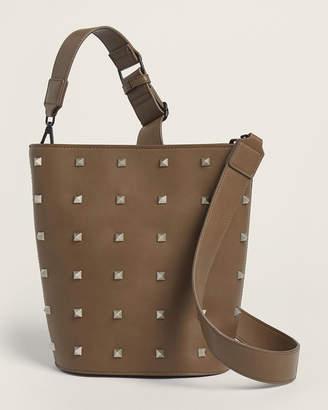 French Connection Mocha Karen Studded Bucket Bag