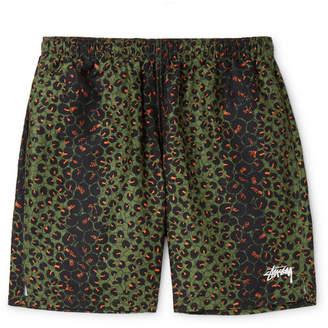 Stussy Mid-Length Leopard-Print Swim Shorts