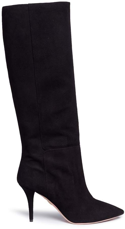 Aquazzura 'Quinn 85' suede knee high boots