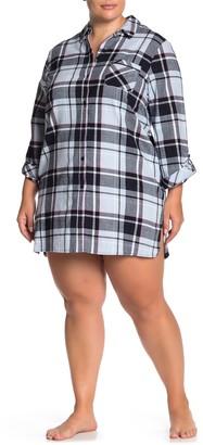 Joe Fresh Plaid Sleep Dress Shirt (Plus SIze)