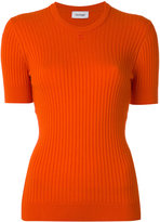 Courreges short-sleeve round neck knit top