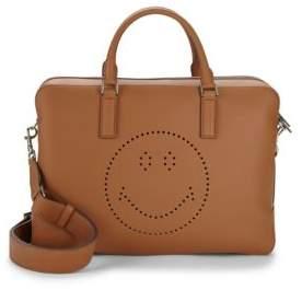Anya Hindmarch Walton Smiley Leather Messenger Bag