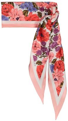Zimmermann Floral silk scarf