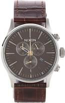 Nixon Men's Sentry Chrono Watch-BROWN