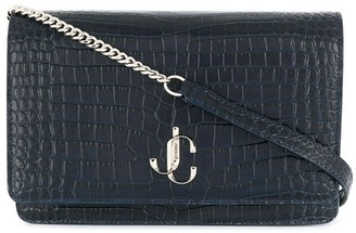 Jimmy Choo Palace crocodile-effect crossbody bag