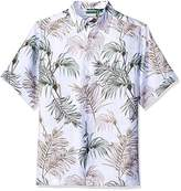 Cubavera Men's Big and Tall Short Sleeve All Over Tropical Print Woven Shirt
