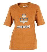 """Etoile Isabel Marant Amber Gold """"kendriwa"""" Logo T-shirt"""
