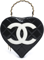 Chanel Patent Leather Heart Shaped Bag
