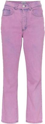 Ashley Williams Ashley acid wash cropped jeans